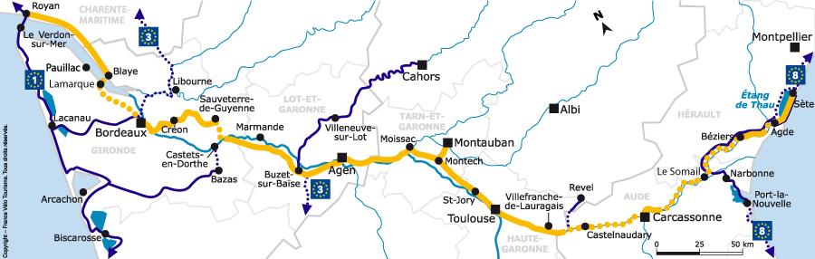 Le canal des 2 mers à vélo, de Sète à Royan